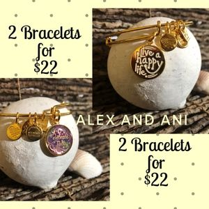 2 Alex and Ani Bracelets